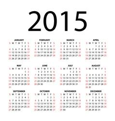 calendar for 2015 vector image vector image