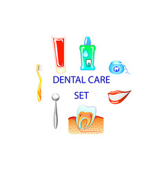 dental care colour set clip art vector image