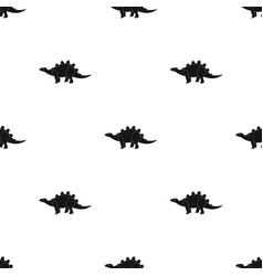 dinosaur stegosaurus icon in black style isolated vector image