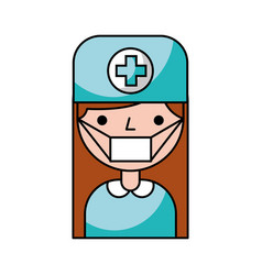 Doctor avatar character icon vector