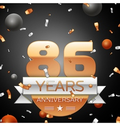Eighty six years anniversary celebration vector