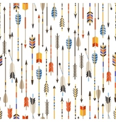 Ethnic seamless pattern with indian arrows in vector image vector image