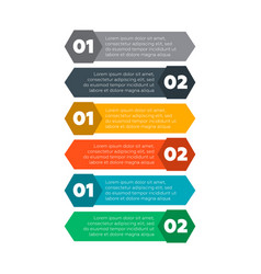 Infographics elements six steps process vector