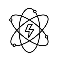 Line energy hazard symbol of power industry with vector