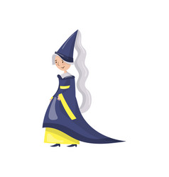 Maid of honor of the queen in a blue dress and vector