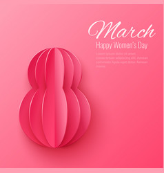 march 8 happy womens day greeting card vector image vector image