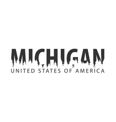 michigan usa united states of america text or vector image vector image