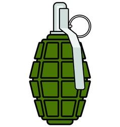 Military grenade icon vector image