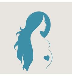 Pregnant woman4 vector image vector image