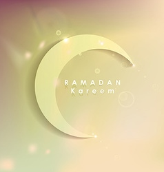Ramadan Kareem greeting card with soft subtle vector image vector image
