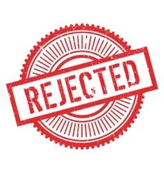 Rejected stamp rubber grunge vector