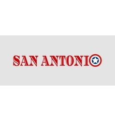 San Antonio city name with flag colors vector image vector image
