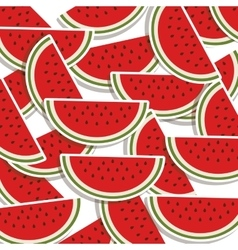 Silhouette colorful pattern with slice watermelon vector