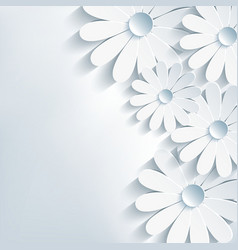 Stylish creative abstract background 3d flower vector image vector image