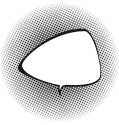 Triangular Speech Bubble on Pop Art Background vector image vector image