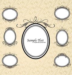 vintage ornate frames vector image