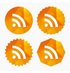 Rss sign icon rss feed symbol vector