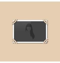 Blank retro photo vector image