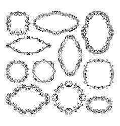 floral design filigree frame elements vector image