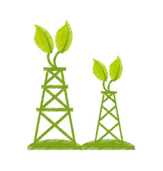 Ecological energy alternatives icon vector
