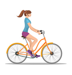 adult young man riding bicycles vector image
