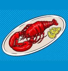 Lobster pop art vector