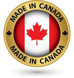 Made in canada gold label vector