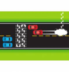 road situation vector image