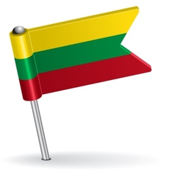 Lithuanian pin icon flag vector