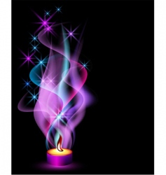 Candle flame vector