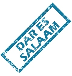 Dar es salaam rubber stamp vector