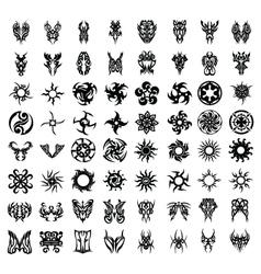 64pcs tribal tattoo set vector
