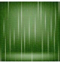 Binary code green background vector