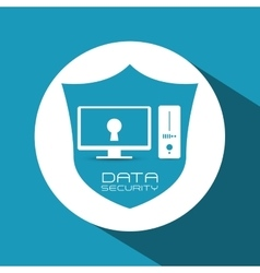 Data security design vector image