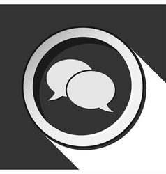 Icon - speech bubbles with shadow vector