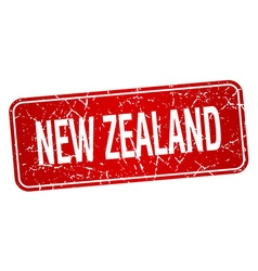 New zealand red stamp isolated on white background vector