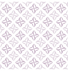 Stylized four-petal flower background vector