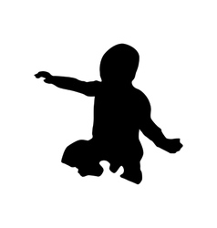 Baby black silhouette vector