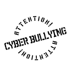 Cyber bullying rubber stamp vector