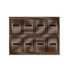 Drawing locker wooden mailboxes postal image vector