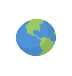 Earth isolated cartoon style planet of solar vector