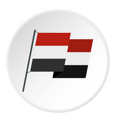 Egyptian wavy flag icon circle vector