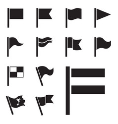 flag icon set isolated vector image vector image