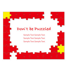 Jigsaw puzzle frames 1 red vector