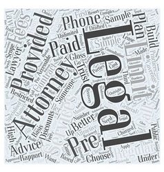Limitations of pre paid legal services word cloud vector