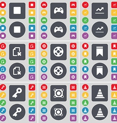 Media stop gamepad graph file videotape marker key vector