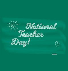 National holiday happy teacher day on school vector