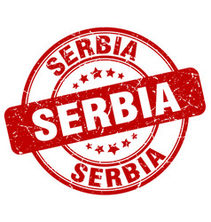 Serbia stamp vector