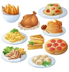 Set of food icons isolated on white background vector