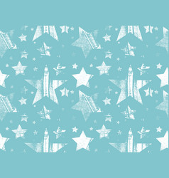 set of stars in grunge star vector image vector image